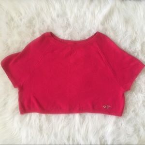 Hollister cropped pink top